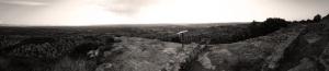 Panorámica desde lo alto del poblado íbero de San Antonio, en Calaceite, Comarca del Matarraña en Teruel