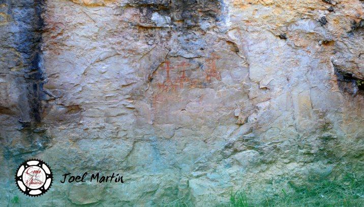 Pinturas rupestres en el parque natural de Parrassal, en Beceite